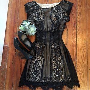 Beautiful Black and Cream PINKY Dress - Size S